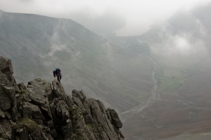 Rock climbing on Needle Ridge, Wasdale