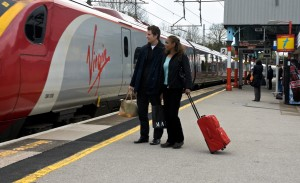 Virgin Rail train, Oxenholme station